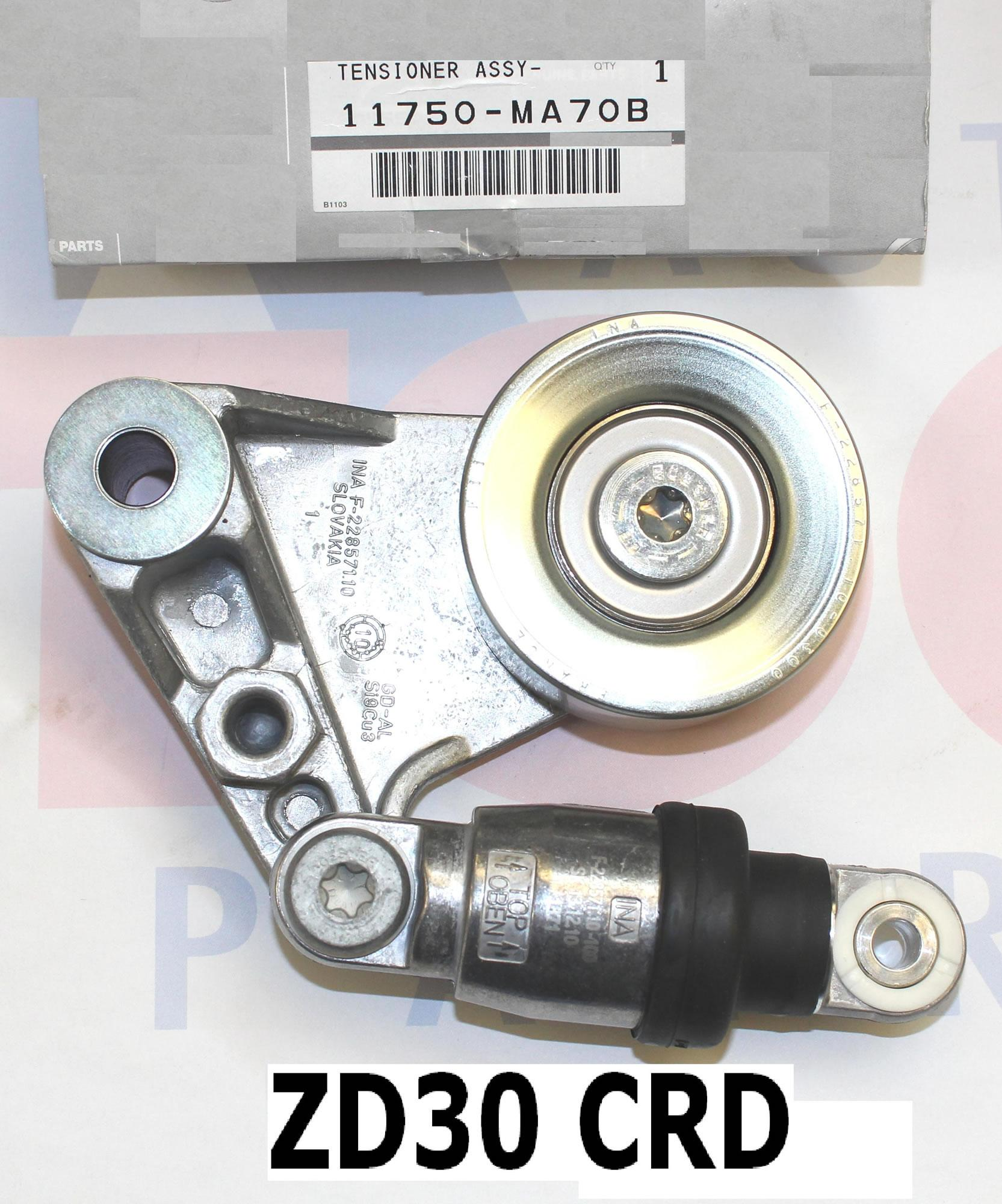 OEM Genuine fan belt Tensioner pulley assembly to fit Nissan GU Patrol with  CRD ZD30 engine