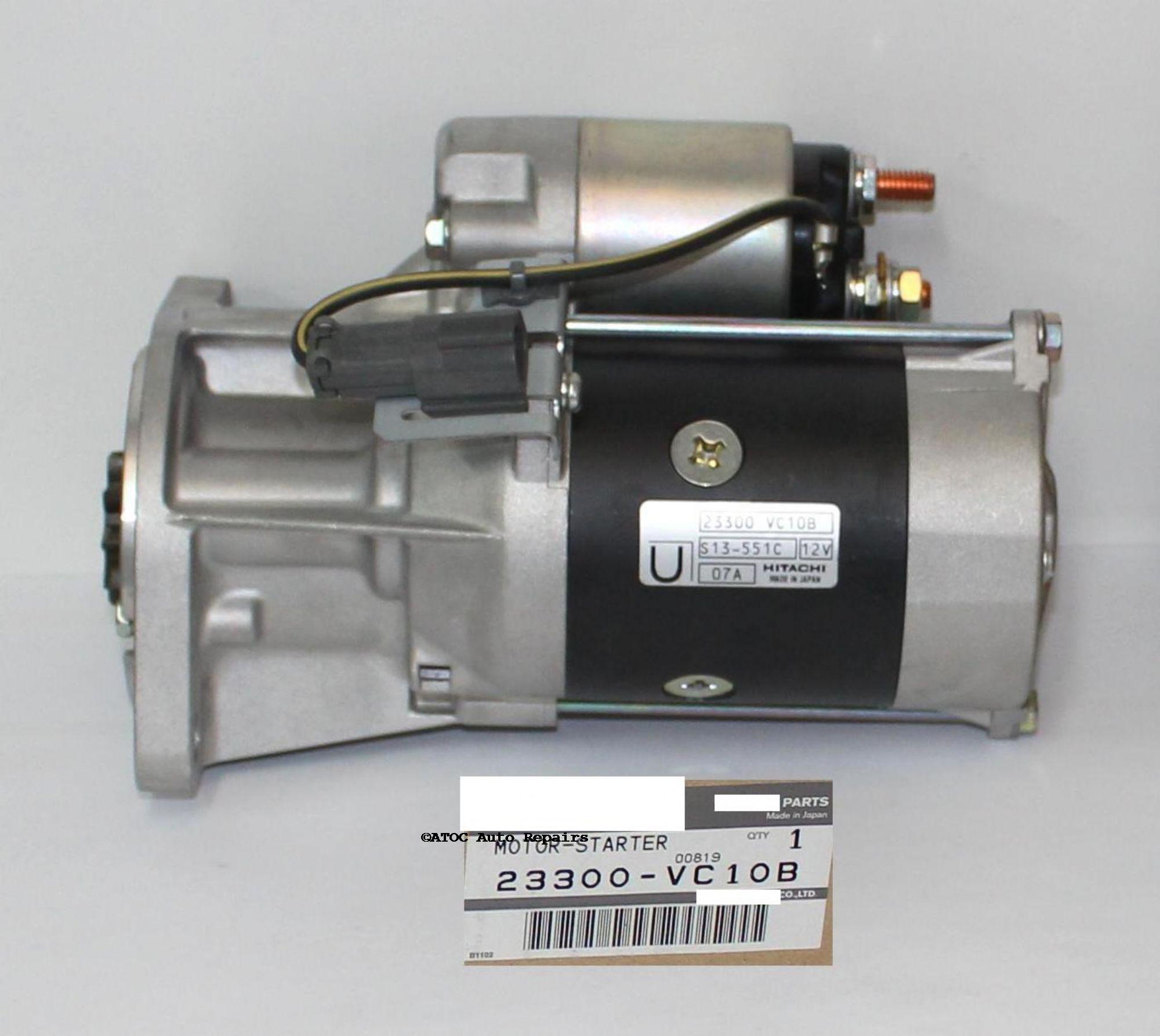 OEM Genuine Starter motor to fit GU Patrols with ZD30 engine