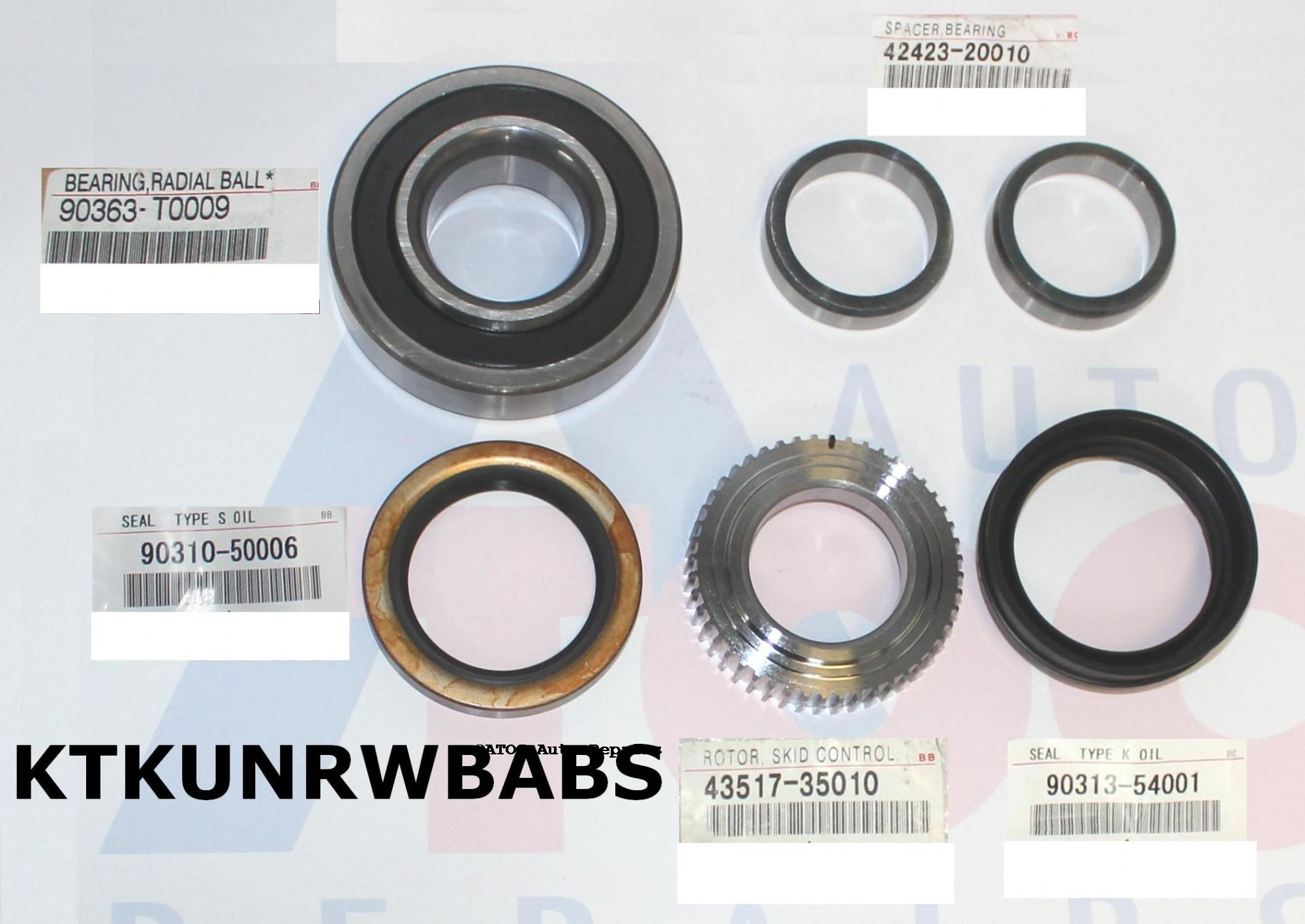 Oem Genuine Rear Wheel Bearing Kit To Fit Hilux Kun26 With